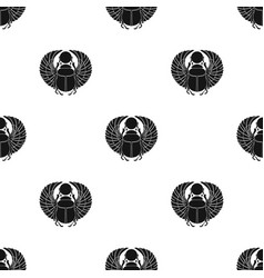 Scarab icon in black style isolated on white vector