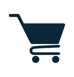 Shopping cart market isolated icon vector