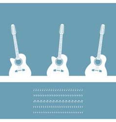 three guitars vector image