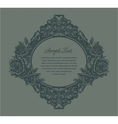 Vintage floral frame with roses vector
