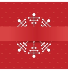 Snowflake merry christmas image vector