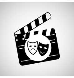 Theatrical mask clapper movie graphic vector