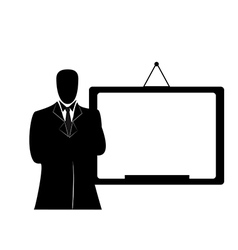 Businessman with whiteboard vector