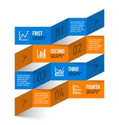 Stock chart theme modern infographics vector