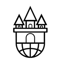 Thin line castle icon vector