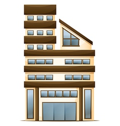 A multi-story building vector