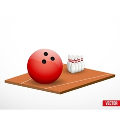 Symbol of a bowling game and field vector