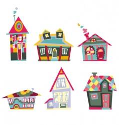 Decorative houses vector