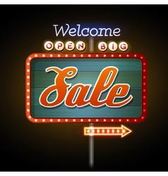 Neon sign big sale vector