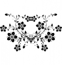 floral background vector vector image