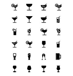 Drinks icons 1 vector