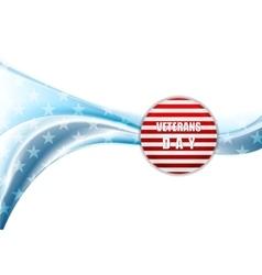 Veterans day design wavy background vector
