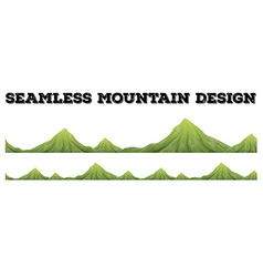 Seamless mountain range design vector