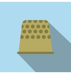 Thimble flat icon vector