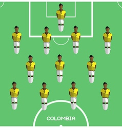 Computer game Colombia Football club player vector image
