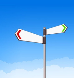 Direction Road Sign vector image