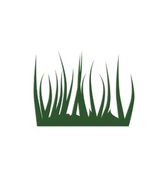 Green grass icon cartoon style vector