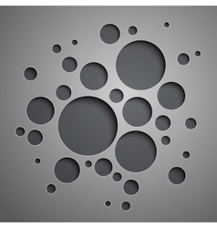 Abstract background with black and grey circles vector image vector image