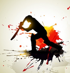 abstract cricket background vector image