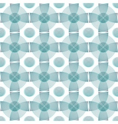 Abstract seamless blue pattern geometric shapes vector