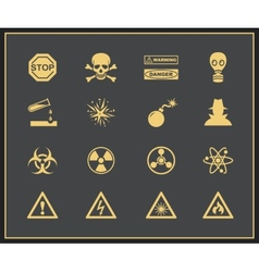 Danger and warning icons vector image vector image