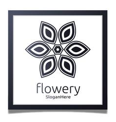 elegant flower logo icon design with gradient vector image vector image