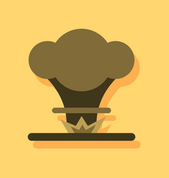 Flat icon design collection nuclear explosion in vector