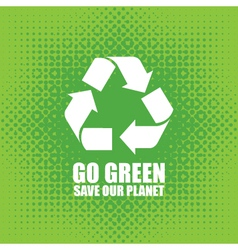go green vector image