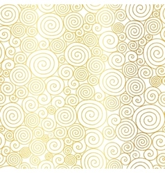 Golden white abstract swirls seamless vector