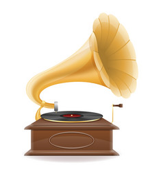 Gramophone old retro vintage icon stock vector
