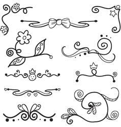 Hand drawn swirls vector