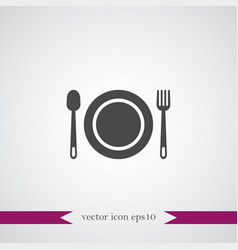 plate icon simple vector image