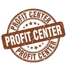 Profit center brown grunge stamp vector