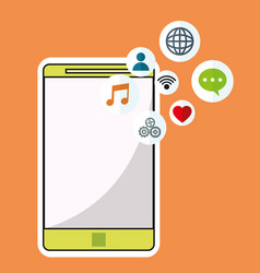 Smartphone wireless technology communication vector