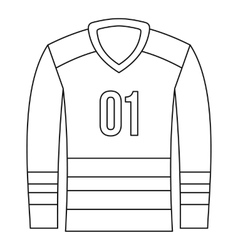 Sport uniform icon outline style vector
