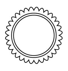 sun black color icon vector image