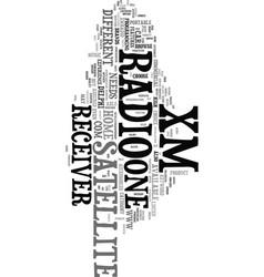 xm satellite radio receiver ii text word cloud vector image