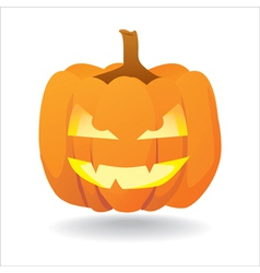 Halloween smiling pumpkin vector
