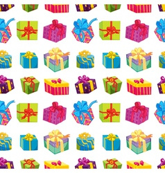 Various gift boxes vector