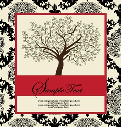 Invitation card with abstract floral background vector