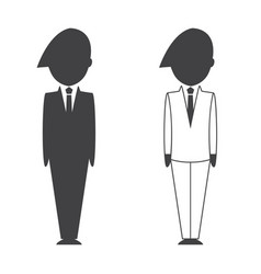 smart businessman and businesswoman icon vector image