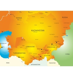 Central Asia vector image
