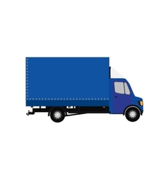 Blue Small truck Silhouette  EPS10 vector image
