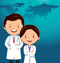 Cartoon doctor or medical career vector