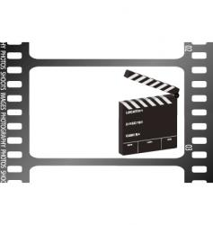 Film strip clapper vector