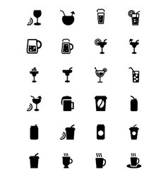 Drinks icons 2 vector