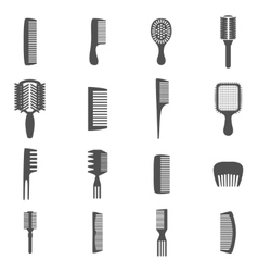 Comb icons set vector