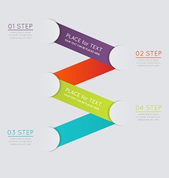 Set of colorful text box with steps trendy colors vector