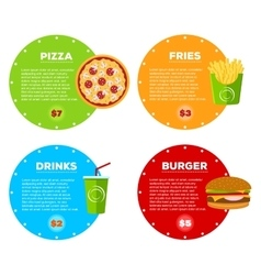 Fast food cafe menu vector