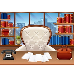 Business office fully furnished vector